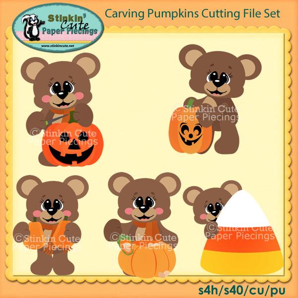 Carving Pumpkins Cutting File Set