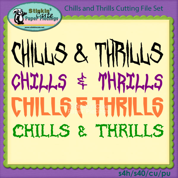 Chills and Thrills Cutting File Set