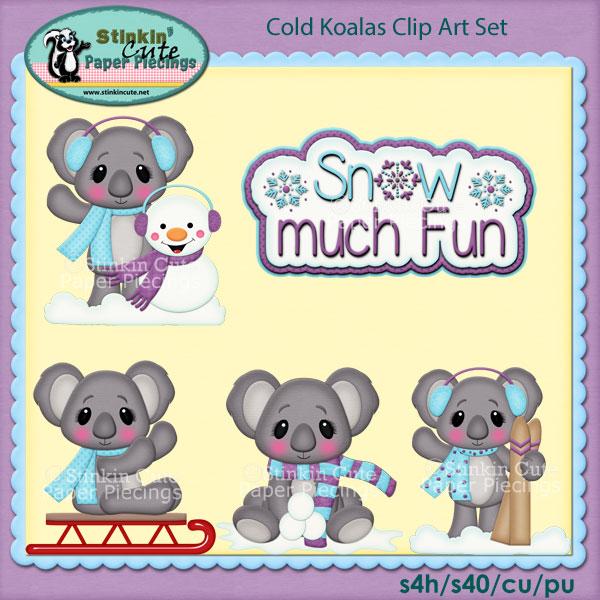 Cold Koalas Clip Art Set