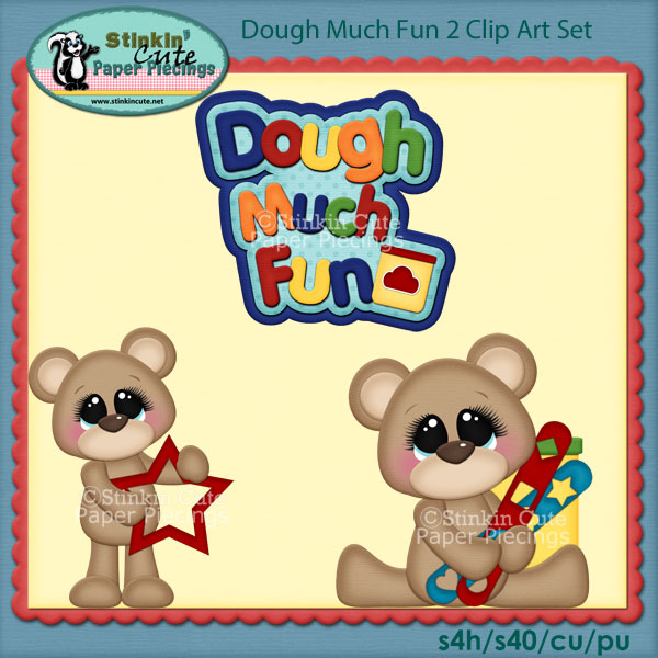Dough Much Fun 2 Clip Art Set
