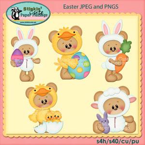 Easter Bear Clip Art Set