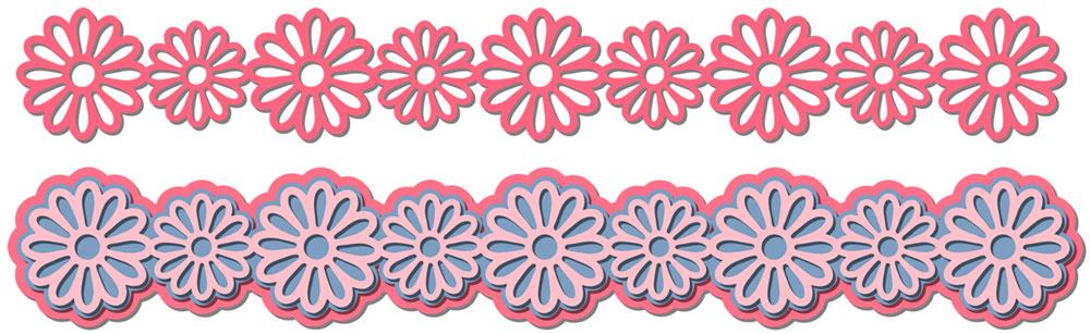 Flower Border Cutting File Set