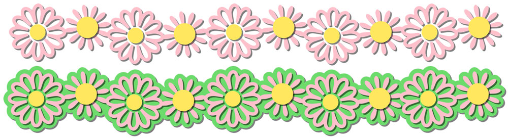 Flower Border 2 Cutting File Set Svg Wpc Dxf Gsd Mtc Scal Scut3 Jpeg Png Svgs Jpegs Pngs