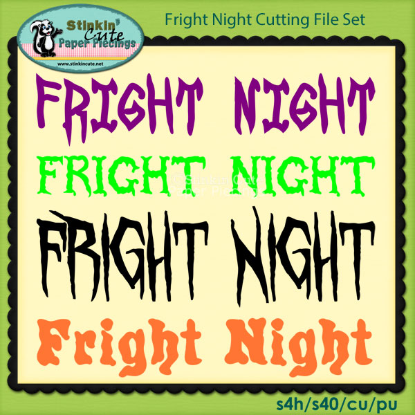 Fright Night Cutting File Set