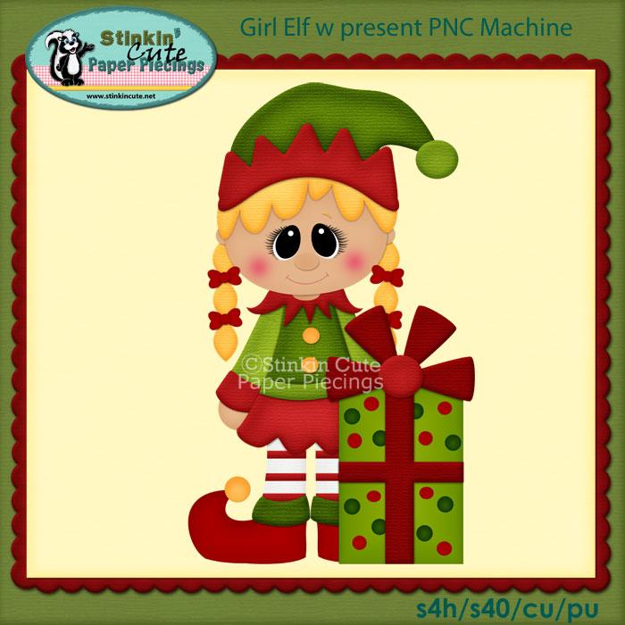 Girl Elf w present PNC Machine