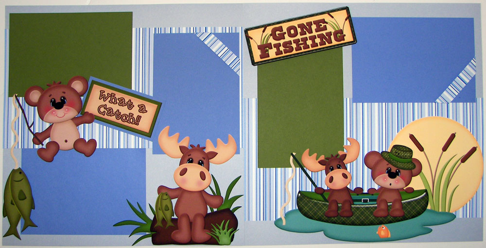 Gone Fishing Page Kit