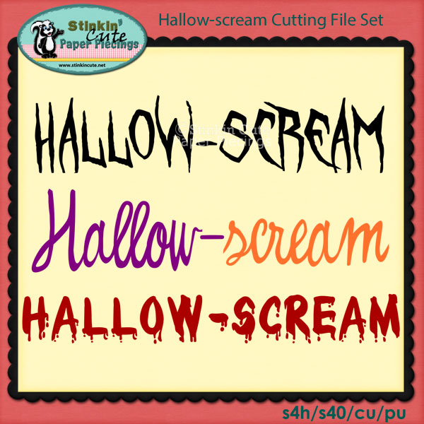 Hallow-Scream Cutting File Set