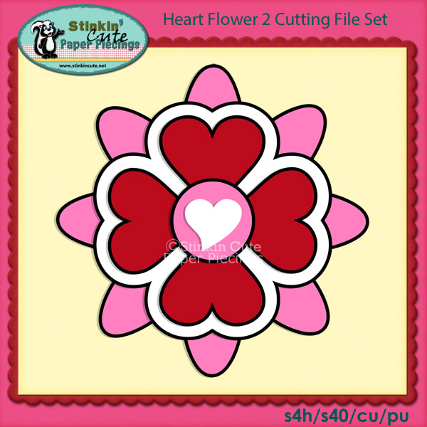 Heart Flower 2 Cutting File Set