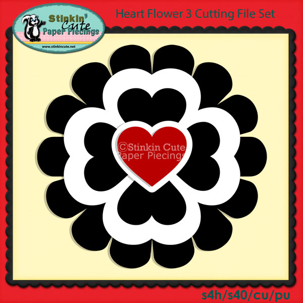 Heart Flower 3 Cutting File Set