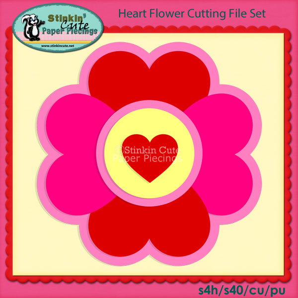 Heart Flower Cutting File Set