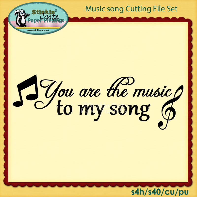 Music song Cutting File Set