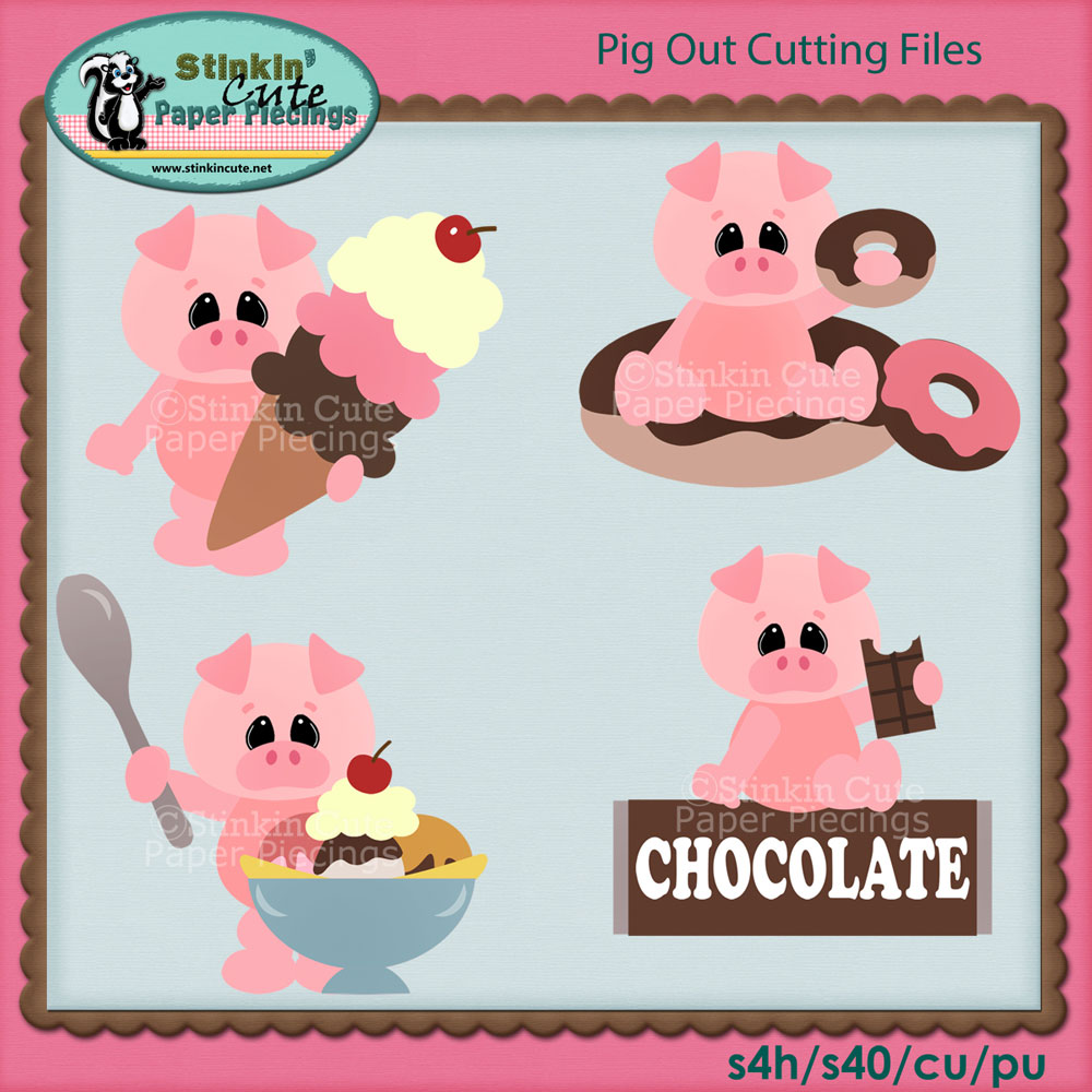 Pig Out Cutting File Set