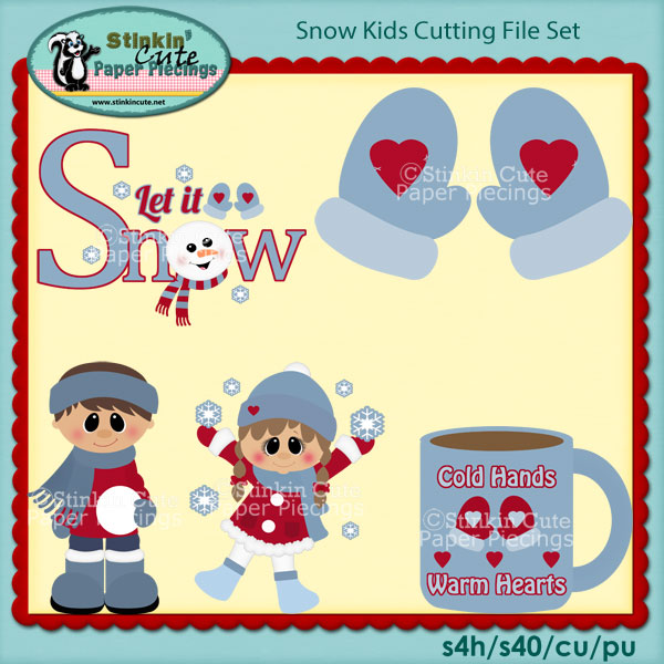 Snow Kids Cutting File Set