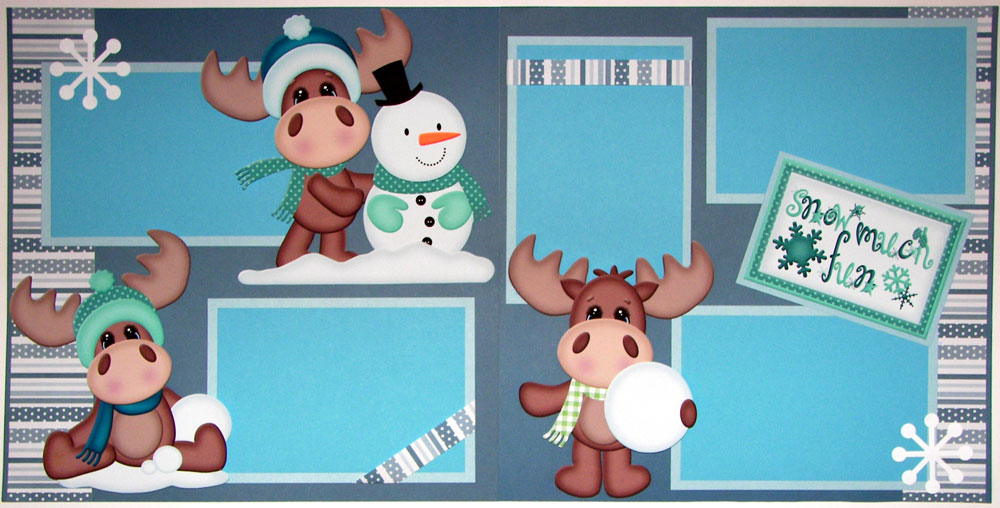 Snow Much Fun Moose Page Kit