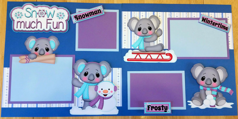 Snow much Fun Koalas Page Kit
