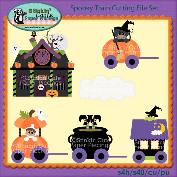 Spooky Train Cutting File Set