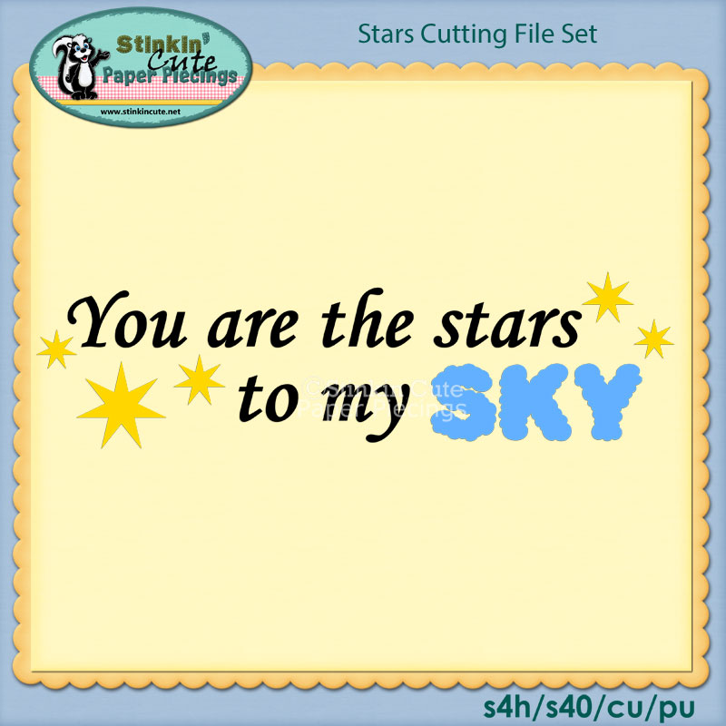 Stars Cutting File Set