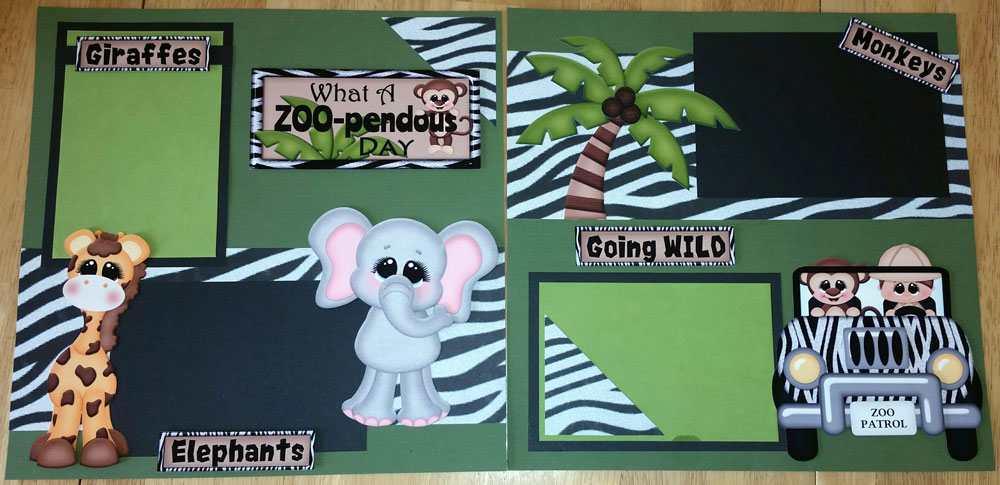 What a Zoo-pendous Day Page Kit