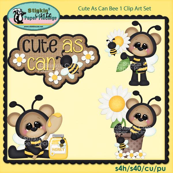 Cute As Can Bee 1 Clip Art Set