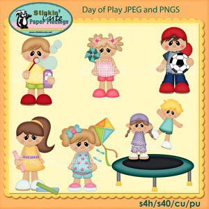 Day of play Clip Art Set