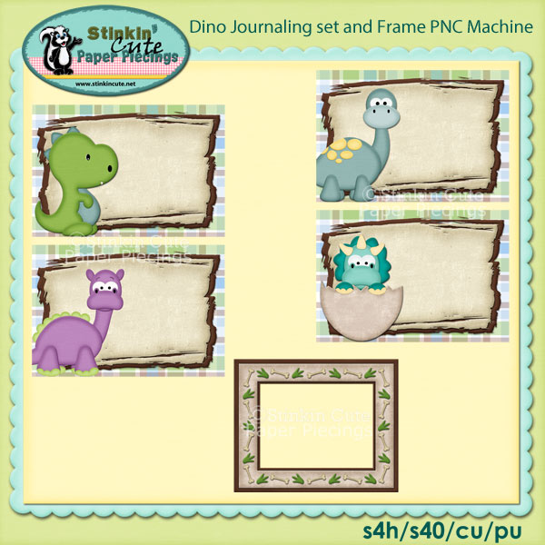 Dino Journaling Set and Frame PNC Machine