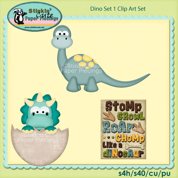 Dino Set 1 Clip Art Set