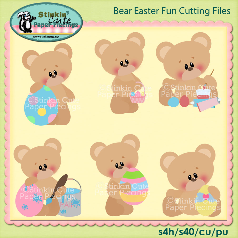 Easter Bear Fun Cutting File Set