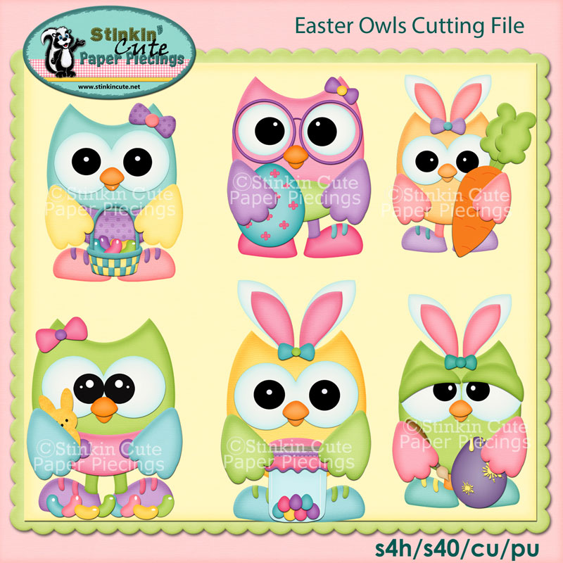 Easter Owls Cutting File Set