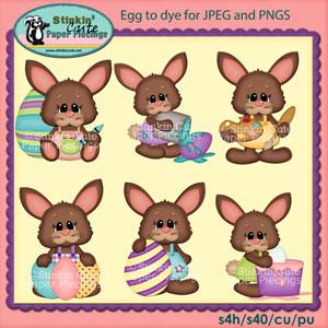 Eggs to dye for Clip Art Set