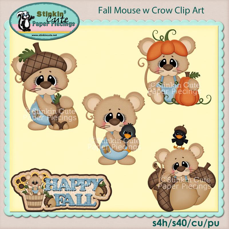 Fall Mouse Clip Art Set