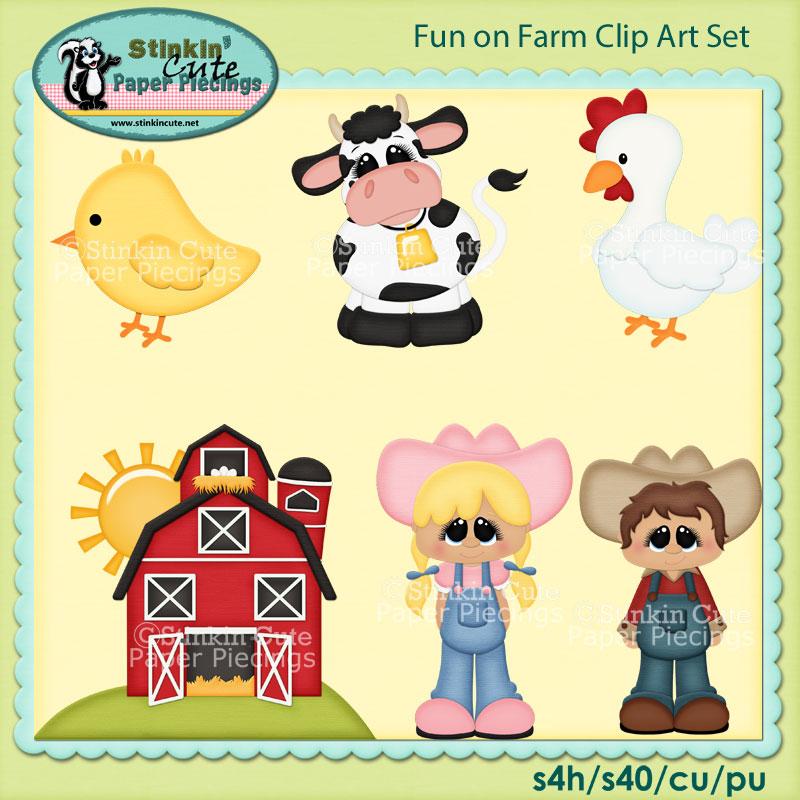 Farm Livin Clip Art Set