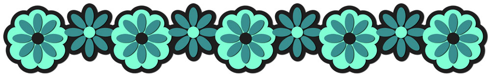 Flower Border 9 Cutting File Set