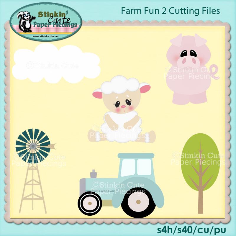 Fun On Farm 2 Cutting File Set