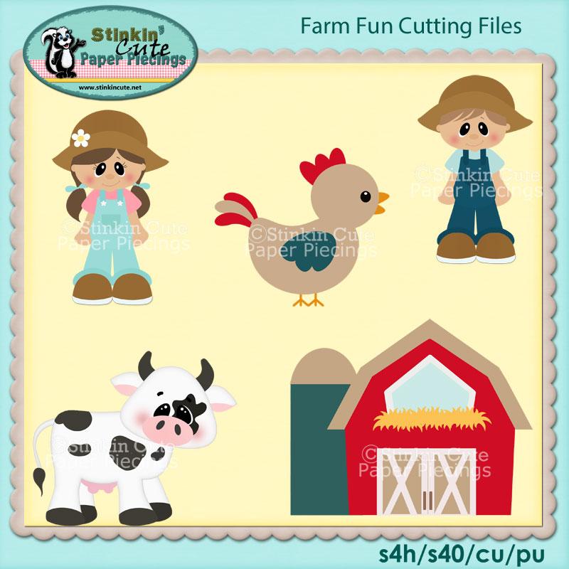 Fun On Farm Cutting File Set
