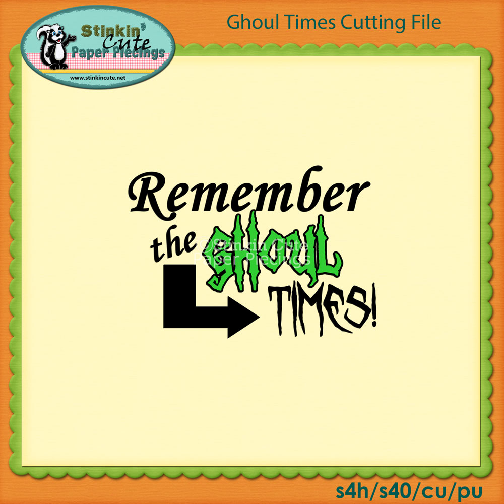 Ghoul Times Cutting File Set