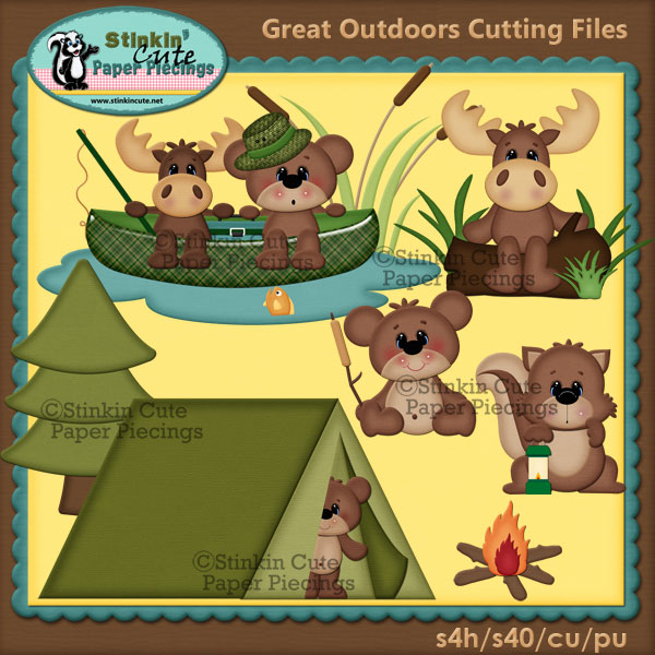 The Great Outdoors Fishing Cutting File Set