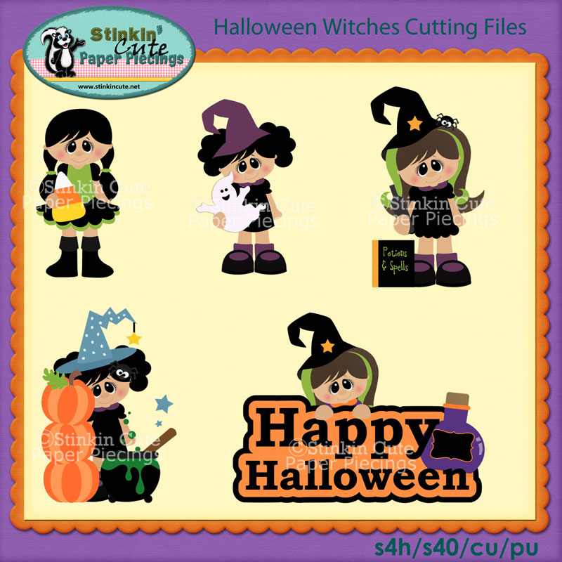 Halloween Witches Cutting File Set