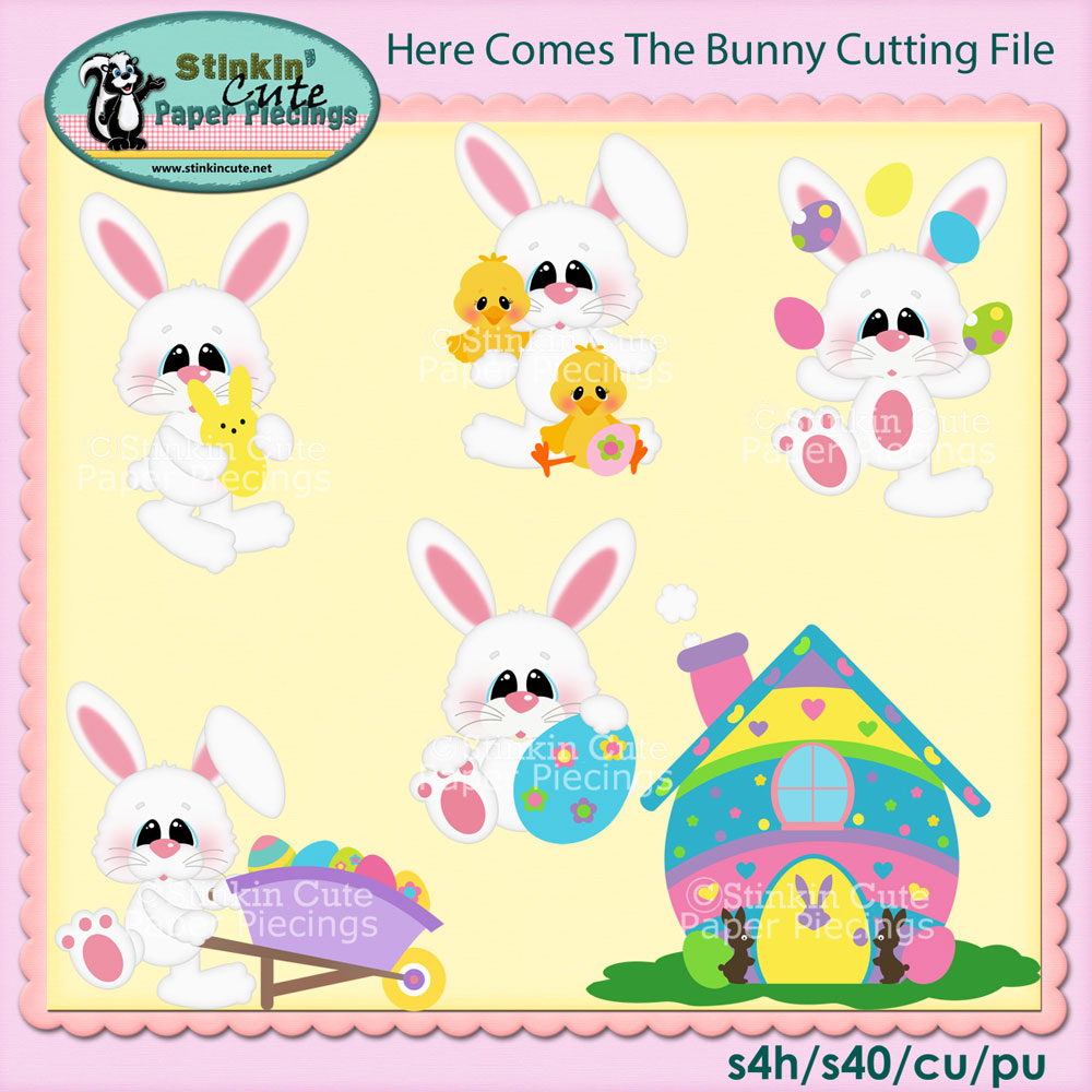 Here comes bunny Cutting File Set