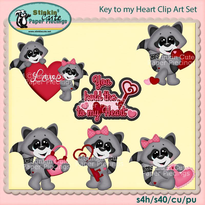Key to my Heart Clip Art Set