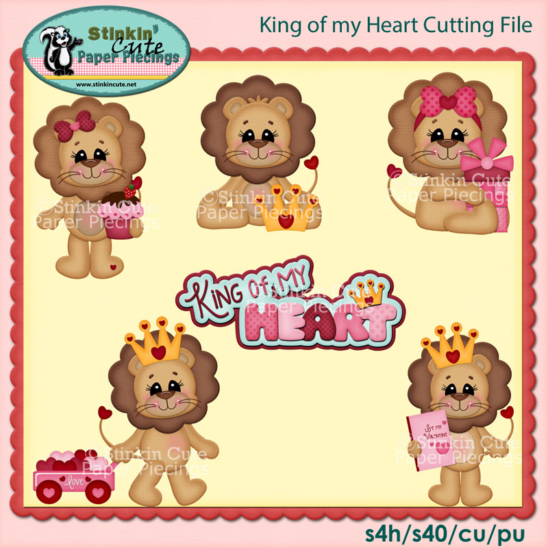 King of my heart Cutting File Set