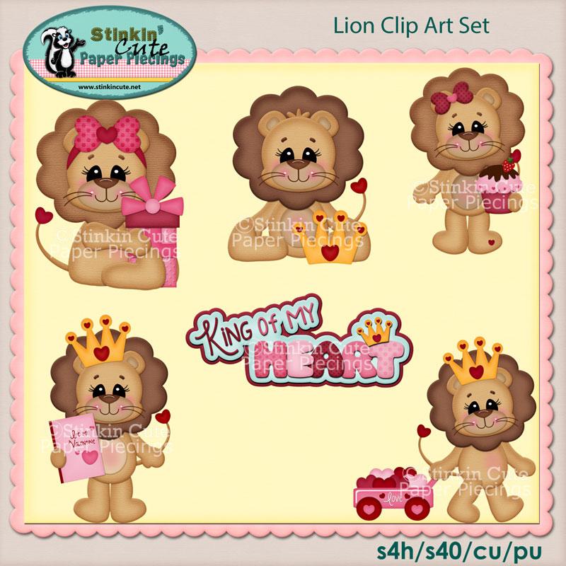 King Of My Heart Clip Art Set