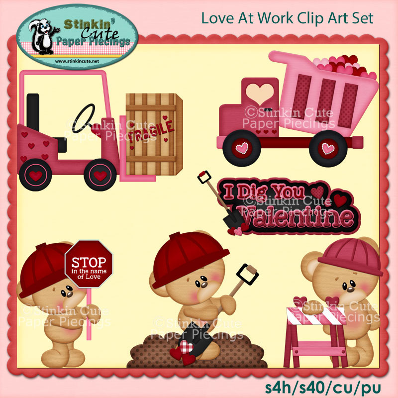 Love At Work Clip Art Set