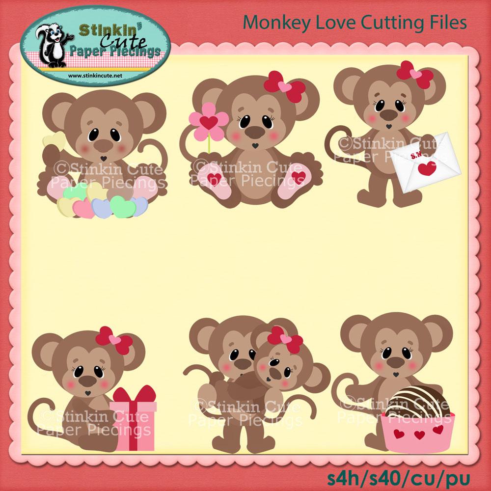 Monkey Love Cutting File Set