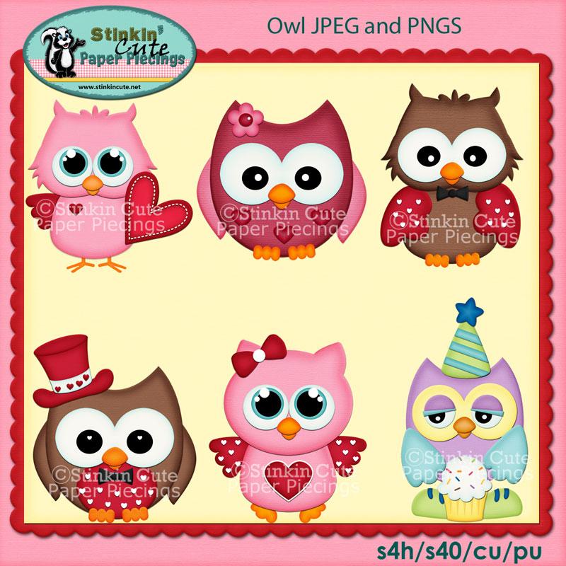 Owls Clip Art Set