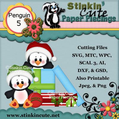 Penguin 5 Cutting File Set