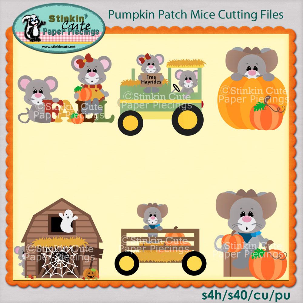 Pumpkin Patch Mice Cutting File Set