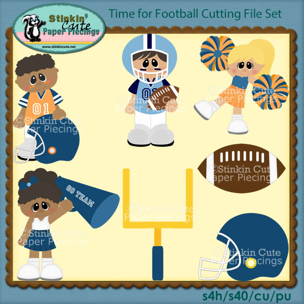 Time for Football Cutting File Set