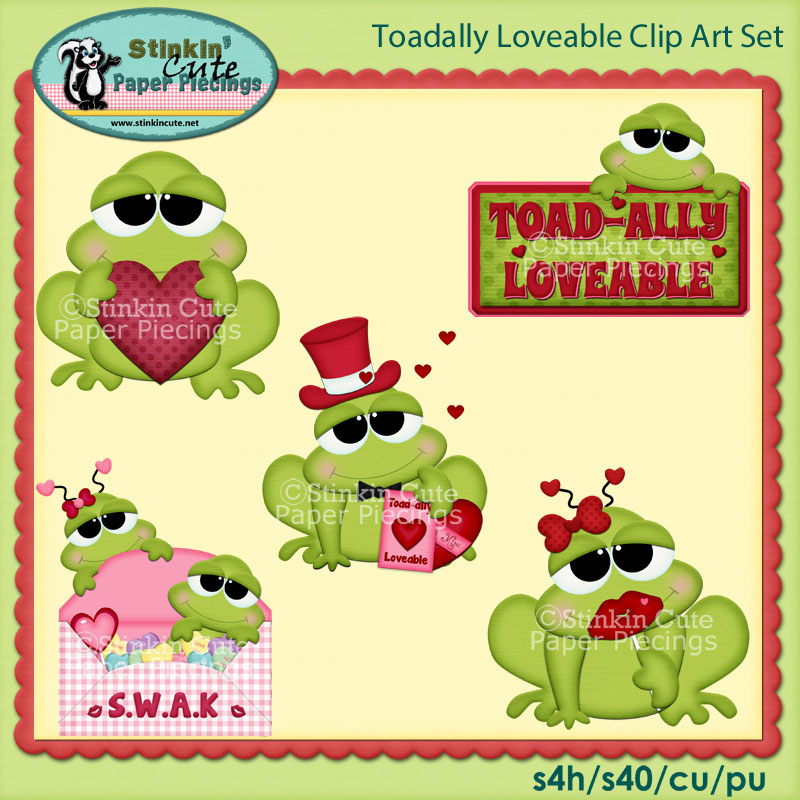 Toadally Loveable Clip Art Set