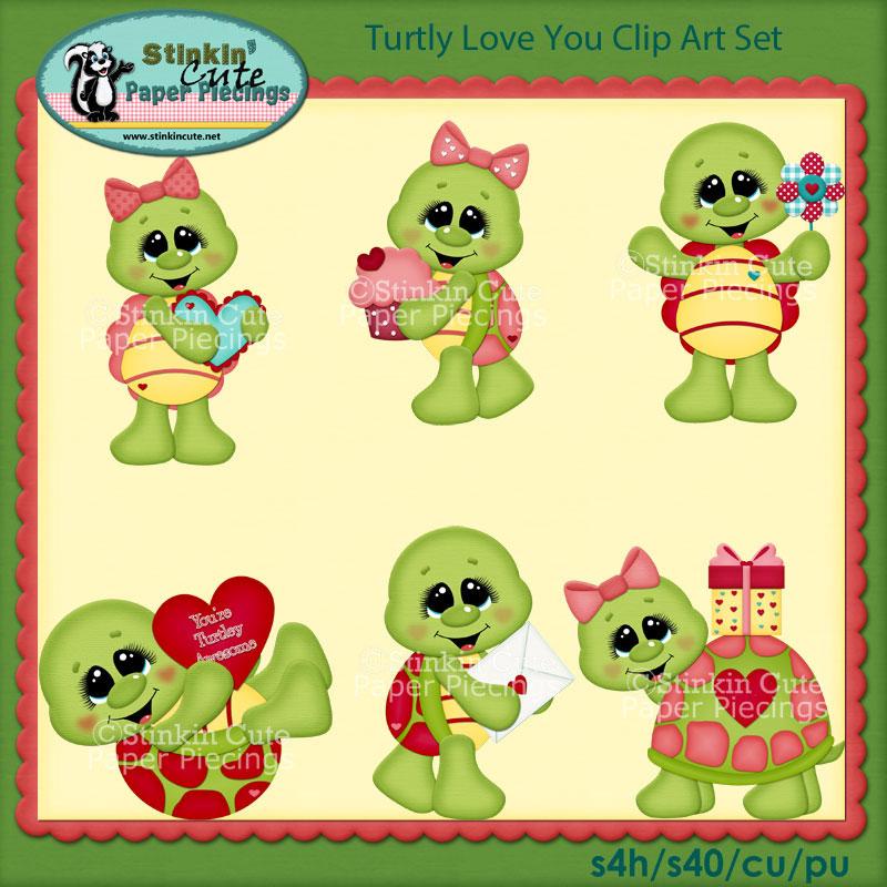 Turtly Love You Clip Art Set