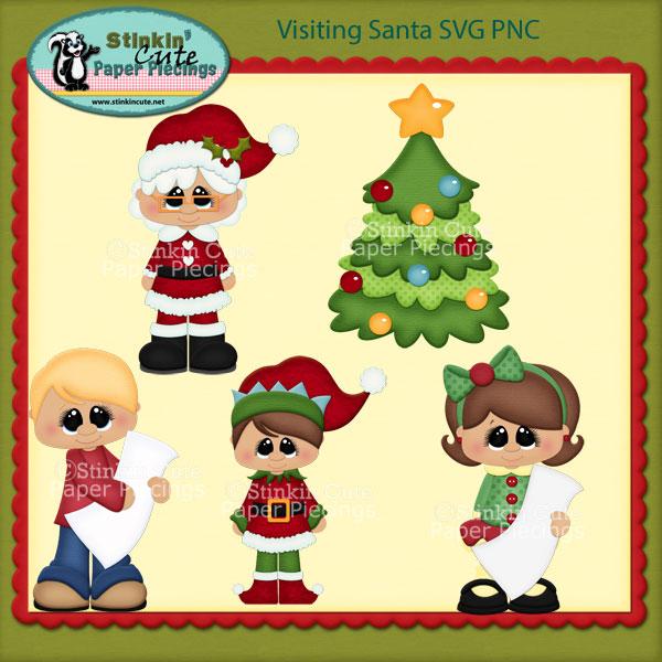 Visiting Santa SVG PNC